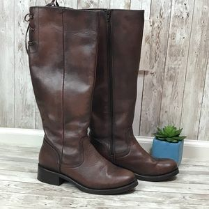 Steve Madden Brown Leather Boots size 8 medium